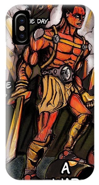 IPhone Case featuring the painting One Day There Was A War by John Jr Gholson
