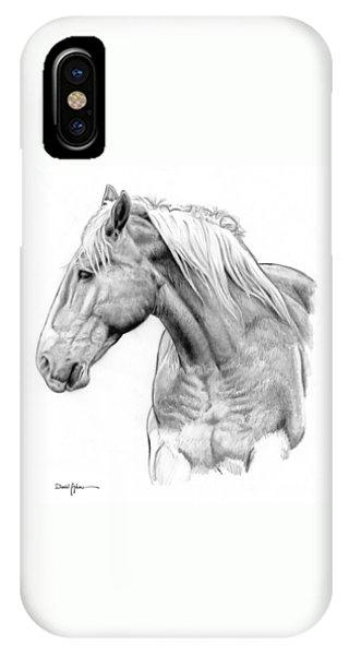 Da134 One Horse Daniel Adams  IPhone Case