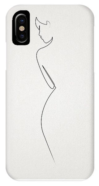 Abstract iPhone Case - One Line Nude by Quibe Sarl