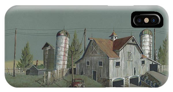 Barn iPhone Case - One Man's Castle by John Wyckoff
