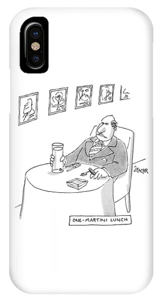 One-martini Lunch IPhone Case