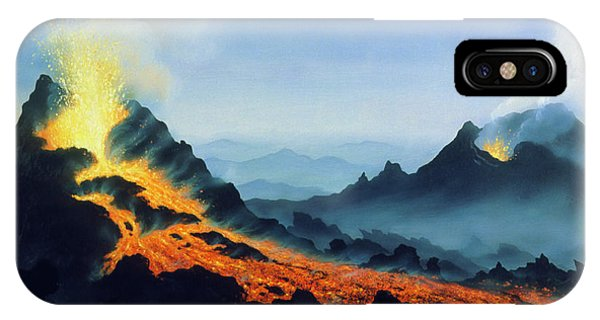 Etna iPhone Case - One Of Two Active Vents On Mt Etna by David Hardy/science Photo Library