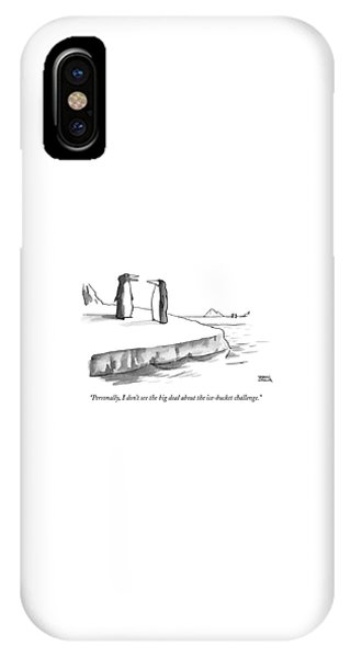 One Penguin Speaks To Another Penguin IPhone Case