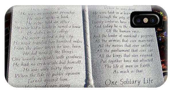 One Solitary Life IPhone Case