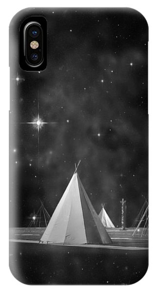 Indian Village iPhone Case - One Tribe Bw by Laura Fasulo