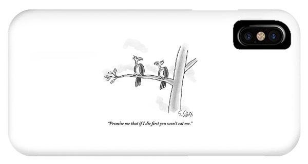 One Vulture Speaks To Another On A Tree Branch IPhone Case