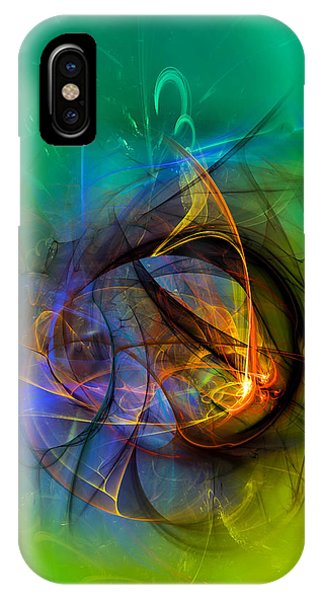 Colorful Digital Abstract Art - One Warm Feeling IPhone Case