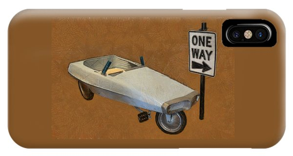 One Way Pedal Car IPhone Case