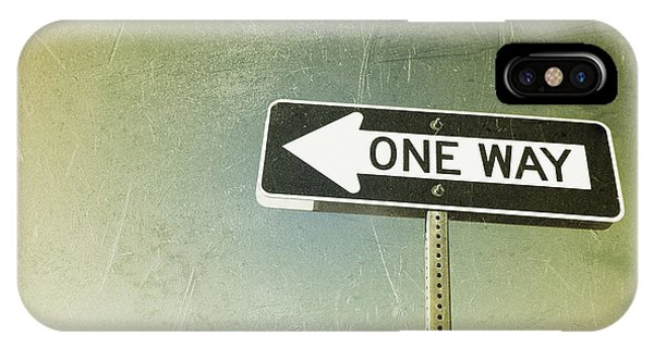 One Way Road Sign IPhone Case