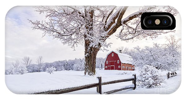 Etna iPhone Case - One Winter Morning On The Farm by Edward Fielding