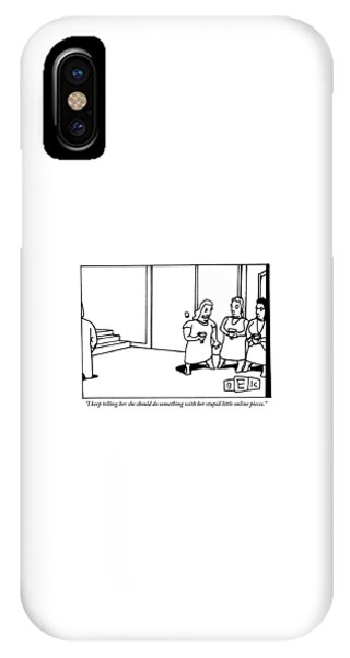 One Women Says To Two Others IPhone Case