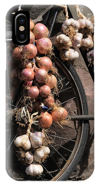 Onions And Garlic On Bike  IPhone Case