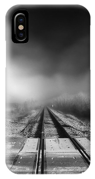 Onward - Railroad Tracks - Fog IPhone Case