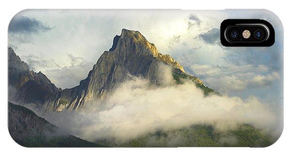Rocky Mountain iPhone Case - Opal Range In Fog Kananaskis Country by Tim Fitzharris