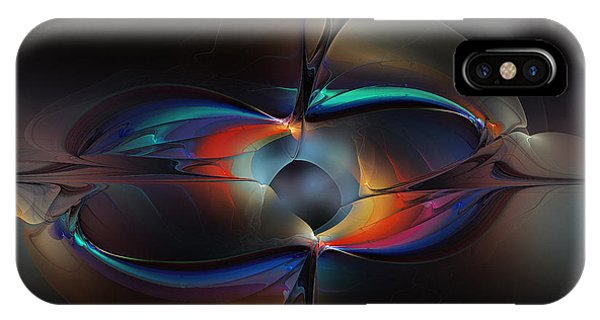 Fractal Landscape iPhone Case - Open Minded-abstract Art by Karin Kuhlmann