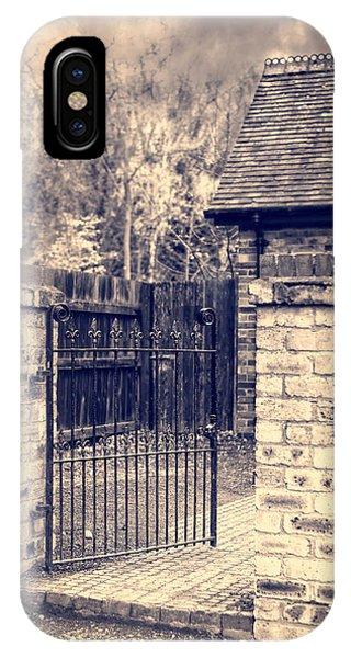 Ironwork iPhone Case - Open Wrought Iron Gate by Amanda Elwell