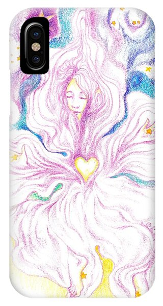 Opening And Blossoming   Dreaming The World Into Being   As She Dances In The Stars IPhone Case