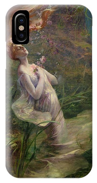 1895 iPhone Case - Ophelia Drowning by Paul Albert Steck