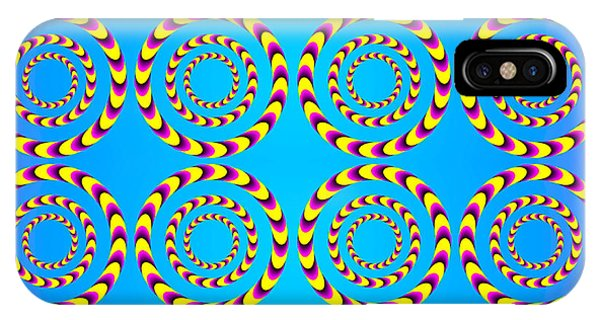 Optical Illusion Spinning Wheels IPhone Case