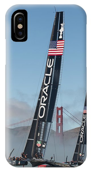 Fog iPhone Case - Oracle Team Usa - 1 by Gilles Martin-Raget