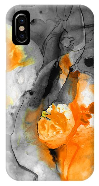 Orange Abstract Art - Iced Tangerine - By Sharon Cummings IPhone Case