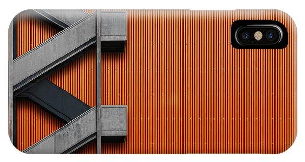 Facade iPhone Case - Orange Abstraction by Alfonso Novillo