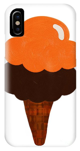 Frozen Food iPhone Case - Orange And Chocolate Ice Cream by Andee Design