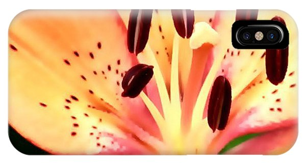 Orange And Pink Flower IPhone Case