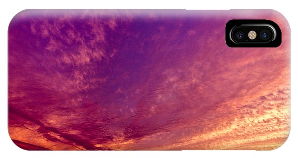 Orange And Purple Clouds Sunset View From The Balcony IPhone Case