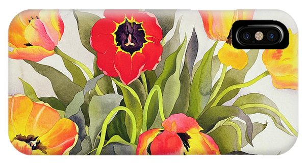 Representation iPhone Case - Orange And Red Tulips  by Christopher Ryland