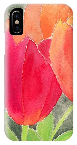 Orange And Red Tulips IPhone Case