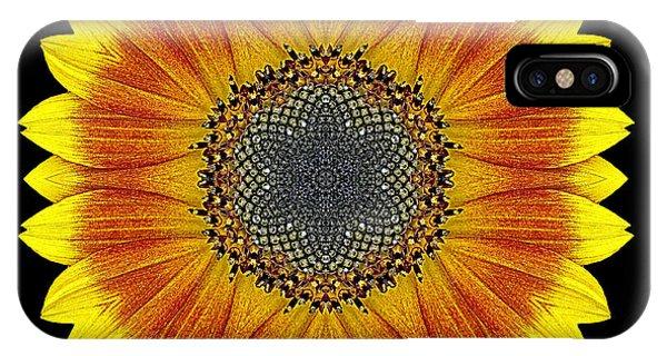 Orange And Yellow Sunflower Flower Mandala IPhone Case