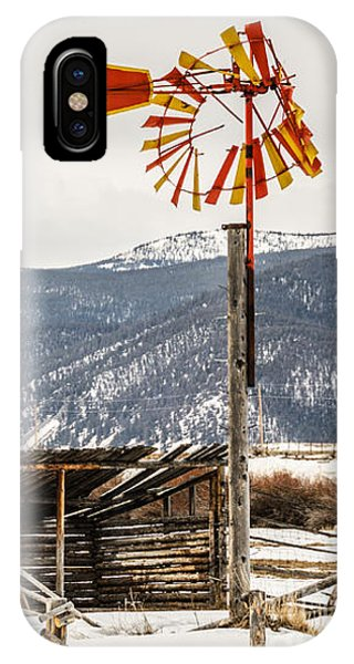 Orange And Yellow Windmill IPhone Case