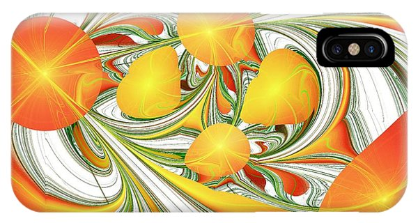 Orange Attitude IPhone Case