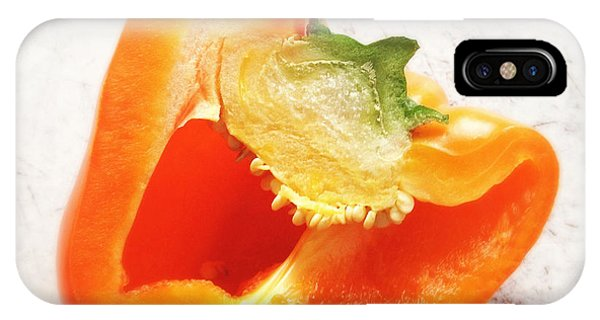Orange iPhone Case - Orange Bell Pepper - Square Format by Matthias Hauser