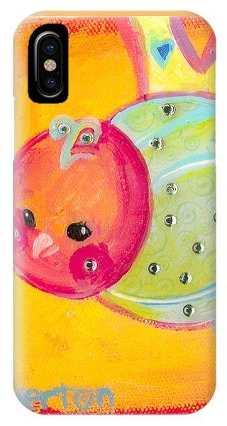 Orange Birdy IPhone Case
