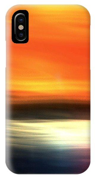 Orange Black Blue IPhone Case