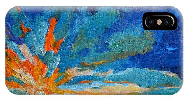 Orange Blue Sunset Landscape IPhone Case