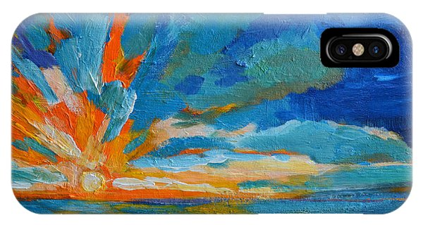 Orange Blue Sunset Landscape IPhone Case