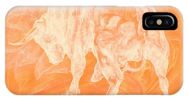 Orange Bull Negative IPhone Case
