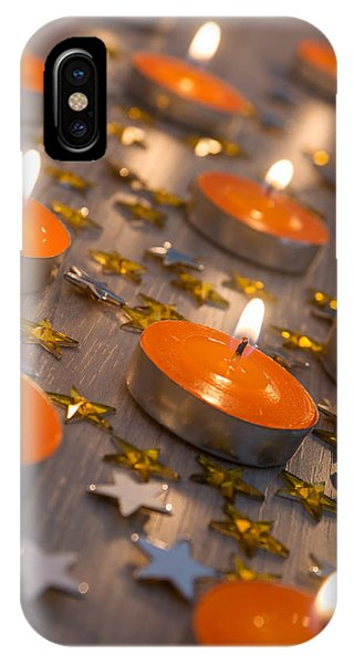Fire Ball iPhone Case - Orange Candles by Carlos Caetano