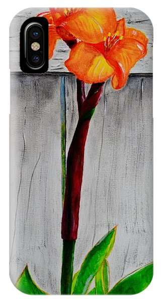 Orange Canna Lily IPhone Case