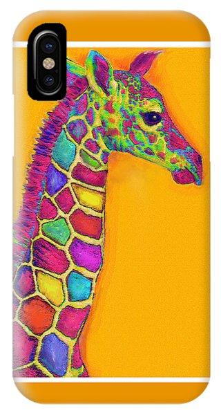 Orange Carosel Giraffe IPhone Case