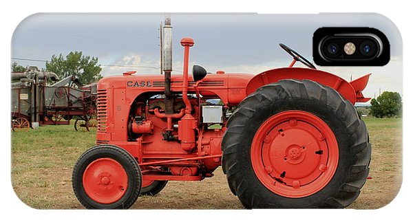 Orange Case Tractor IPhone Case