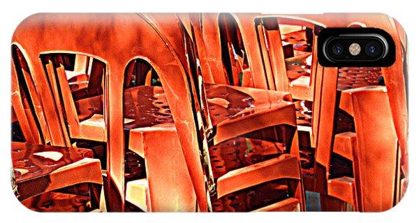 Orange Chairs IPhone Case