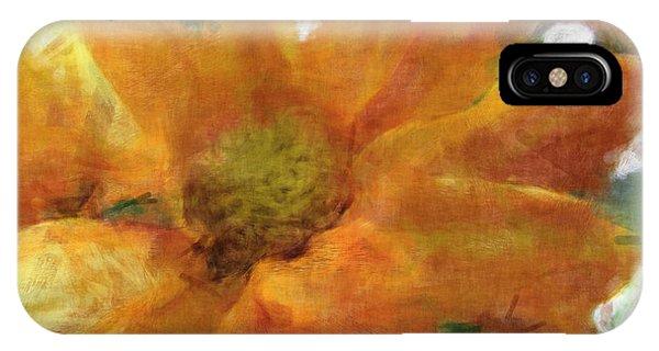 Orange Chrysanthemem Photoart IPhone Case
