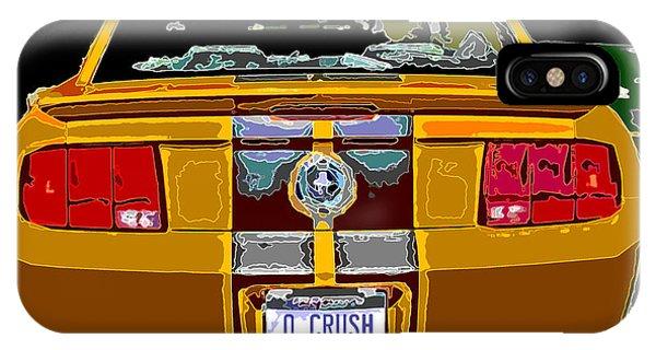 Orange Crush Mustang Rear View IPhone Case