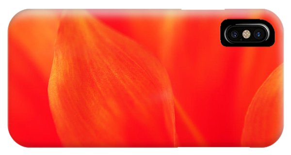 Orange Dahlia Abstract IPhone Case