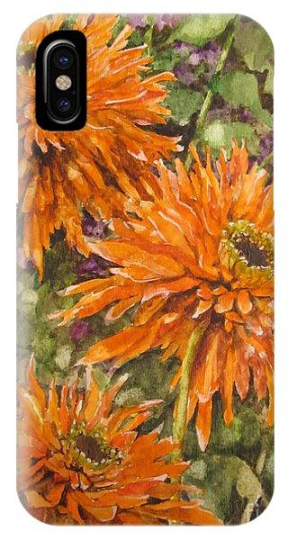 Orange Double Echinacea Phone Case by Karen Olson