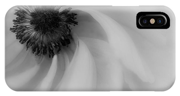Orange Flower In Black And White IPhone Case